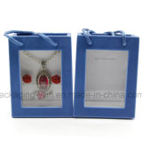 La caja determinada del terciopelo de la caja de la joyería de encargo se reunió la caja
