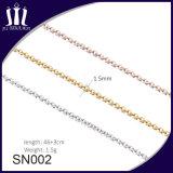 Collar de oro de la boda de la manera diseña el collar pendiente de la joyería