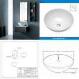 Cupcの小さい浴室の陶磁器の洗浄手洗面器(SN129-523-40)