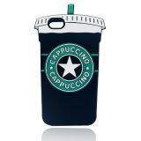 Tampa macia positiva do telefone do copo de chá do leite da caixa 6 do telefone de pilha 3D do iPhone 6 de Starbucks (XSF-011)