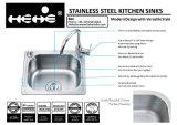 """16-7/8 раковина кухни шара держателя верхней части нержавеющей стали """" X14-3/5 """" одиночная"""