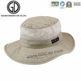 Sombrero impermeable verde clásico del compartimiento de la cremallera del pescador de Camo con el bolsillo