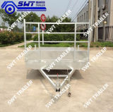 Reboque Flatbed do eixo dobro com galvanizado (SWT-FTT8*7)