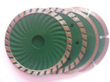 Diamante Turbo Wave Saw Blade, Turbo Freddo-Pressed Wave Saw Blade con Flange