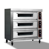 Zwei Plattform-Tellersegment-Pizza-Backen-Gas-Ofen-Hersteller