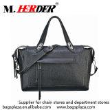 M7003 Alibaba China schwarze echtes Leder-Dame-Handtaschen des Weiche-100%