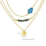 نمو عالة [رهينستون] مجوهرات رخيصة سعر خرزة عقد ([ن-0294])