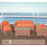 新しいデザイン庭のソファーは防水クッションとセットした