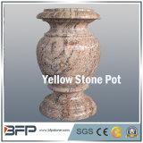 POT di fiore/vaso di pietra gialli Polished antichi per la decorazione del giardino/progetto di paesaggio