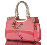 Signora Handbag del Hobo di brevetto della donna dello stilista