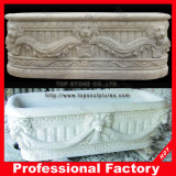 Bathroomのための手Carved White Marble Bathtub