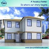 Casa prefabricada del chalet del kit de la estructura de acero para la familia