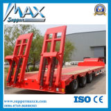 3axle Flatbed Semi Trailer mit Side Wall