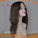 Peluca delantera superior de las mujeres del pelo humano del cordón de la piel del color de Omber