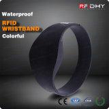 Etiqueta sin contacto de la venda de reloj de la pulsera del Wristband del silicón de la frecuencia ultraelevada RFID del Hf