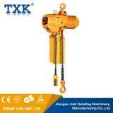 Alzamiento de cadena eléctrico con el gancho de leva de la suspensión o carretilla eléctrica