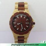 Reloj de madera del cuarzo de la muñeca de la manera de madera natural pura del reloj del OEM