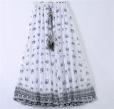 2016 самых последних женщин конструкции напечатали юбку шифонового пляжа богемскую (16701)