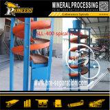 Análise de amostragem pequena Laboratório Ore Testing Machinery Mineral espiral Separator
