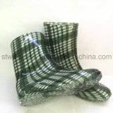 Ново подгоняйте ботинки ботинок дождя женщин шотландки конструкции OEM резиновый