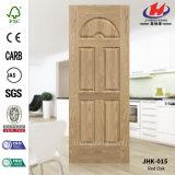 Peau de porte moulée par placage du chêne HDF/MDF (JHK-015)