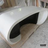 까만 인공적인 돌 현대 사무용 컴퓨터 책상