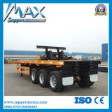Heißes Sale Flat Bed Container Chassis Trailer Skeletal Semi Trailer mit Twist Locks und Hoops