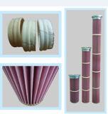 Cartucho de filtro de PPS / Nomex plisado de alta temperatura