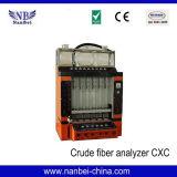Analyseur de fibres brutes de mètre de fibres brutes de 6 glissières