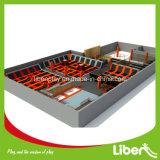 1200 Quadratmeter-kontinuierliche springende Matten mit Dodgeball Spiel-großem Innentrampoline-Park