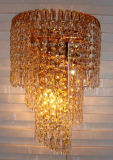 Phineの水晶内部ライトが付いている大きく装飾的な壁ランプ