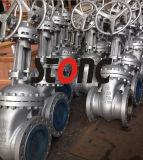 Válvula de porta do aço de carbono do Bw do ANSI 300lb RF/do API