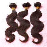 100%の自然な毛のブラジルにバージンの人間の毛髪の編むこと