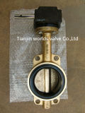 Vanne papillon de bronze en aluminium (D371X-10/16)