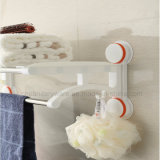 Plated cromato Suction Cup Wall Bracket Towel Shelf con il Pesante-dovere