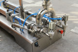 Máquina de rellenar de la bolsa líquida Semi-Auto del canalón