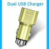 Caricatore di alluminio dell'automobile del telefono mobile del USB del metallo 5V 2.4A di nuovo disegno doppio