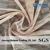 Tela de nylon do laço do engranzamento do Spandex do projeto ondulado da alta qualidade para o roupa interior