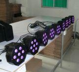 소리 통제 플라스틱 주거 소형 70W RGBW LED 동위 빛