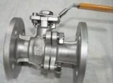 Robinet à tournant sphérique duplex de flottement d'acier inoxydable