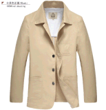 도매 OEM Spring 또는 Autumn Men Cotton Linen Fashion Jacket