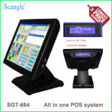 Todos en un TPV con pantalla de cliente de punto de venta del sistema (SGT-665)