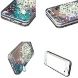 Het mobiele Drijfzand van de Broche van de Dekking van de Telefoon Vloeibaar Geval TPU voor iPhone