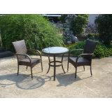 Открытый ротанговой плетеной 2 Стулья сиденья с журнальным столиком (FS-2011 + 2012)