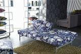 簡単な調節可能なあと振れ止めが付いているファブリックによって折られるソファーベッド