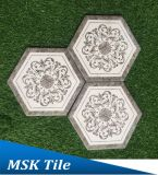 Hexagon-Porzellan Floor&Wall Fliese Kpya23009q-W