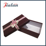 Rectángulo de papel del regalo ULTRAVIOLETA al por mayor del final de la alta calidad con los arqueamientos