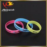 Grande Wristband personalizzato della gomma di silicone di sconto braccialetto promozionale