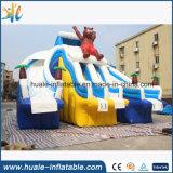 Diapositiva de agua inflable gigante, diapositiva de agua inflable del oso