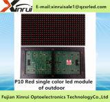 Singola visualizzazione del testo del modulo di colore rosso P10 LED